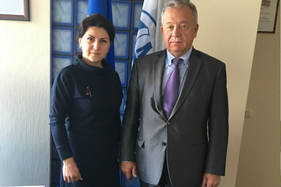 Meeting with Ms. Goar Mirzayants, the Deputy Head of the Secretariat, Intergovernmental Road Council (CIS) on April 1, 2019 ( Moscow)