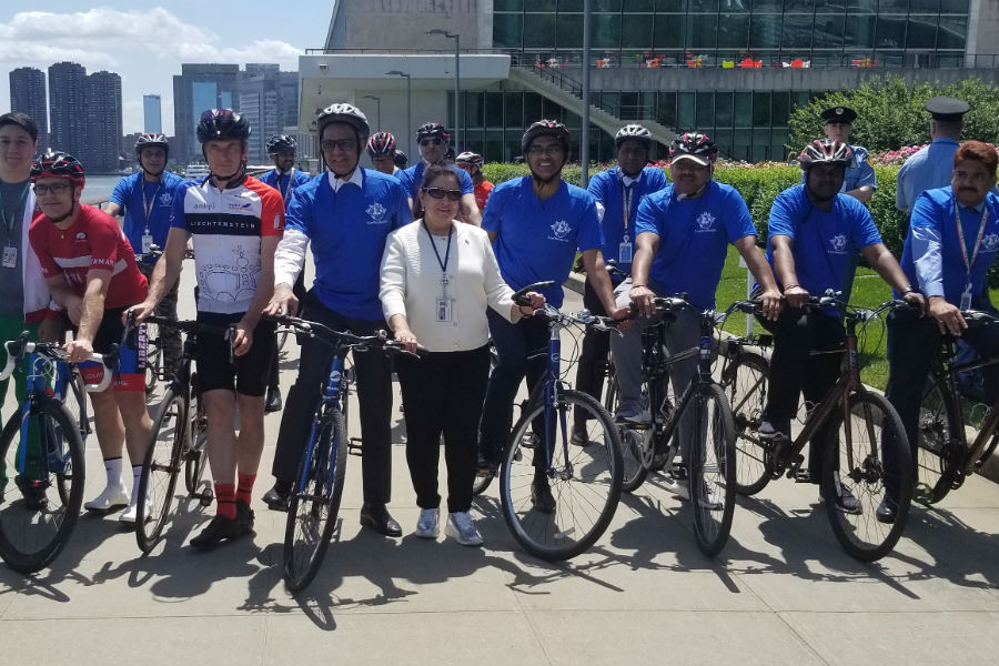 The 2019 World Bicycle Day celebration at the United Nations Headquarters